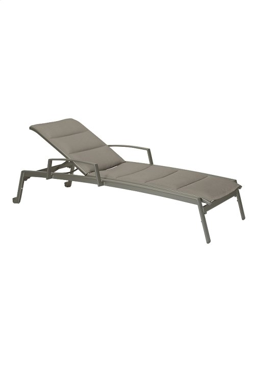 Elance Padded Chaise Lounge with Arms & Wheels