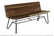 Solid wood Bench w/ Back Rest Product Image