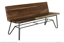 Solid wood Bench w/ Back Rest