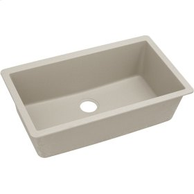"Elkay Quartz Classic 33"" x 18-7/16"" x 9-7/16"", Single Bowl Undermount Sink, Putty"