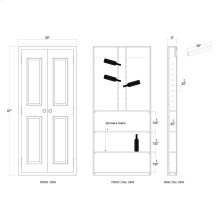 Edinburgh Double Door Wine Cabinet