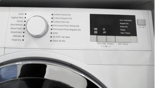 24in Compact Heat Pump Ventless Dryer, 4.1 cu. ft., White w/ Chrome