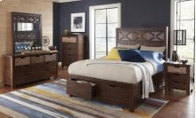 Painted Canyon 3 Piece Queen Bedroom Set: Bed, Dresser, Mirror