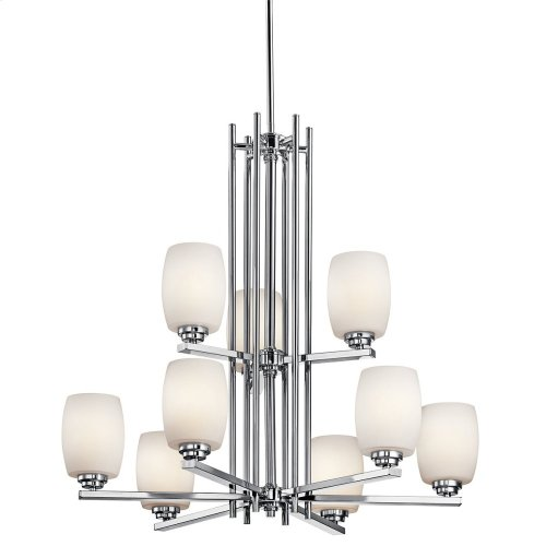 Eileen 9 Light Chandelier with LED Bulbs Chrome