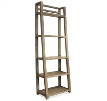 Perspectives Leaning Bookcase Sun-drenched Acacia finish