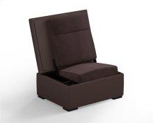 JumpSeat Ottoman, Leather, Chocolate