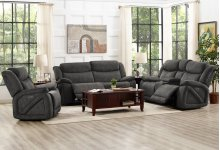 Leona Dual Recliner Console Loveseat