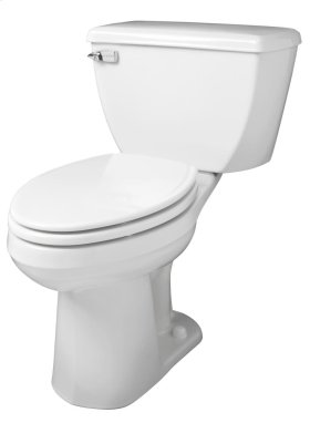 """White Ultra Flush® 1.28 Gpf 10"""" Rough-in Two-piece Elongated Ergoheight Toilet"""