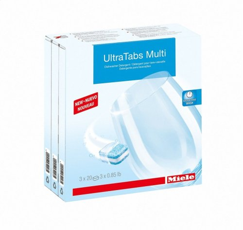 GS CL 0604 T UltraTabs Multi, 60 units for best cleaning results in Miele dishwashers.