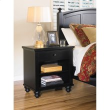 One Drawer Nightstand (Available in Cherry Brown or Eggshell White Finish)