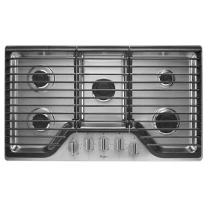 36 inch 5 Burner Gas Cooktop with Fifth Burner - STAINLESS STEEL