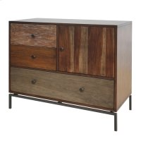 New Ari KD Cabinet 1 Door + 3 Drawers, Rustic Natural Product Image