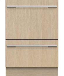 Tall Double DishDrawer Dishwasher, 14 Place Settings, Panel Ready