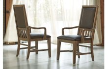 Metalworks Upholstered Back Arm Chair