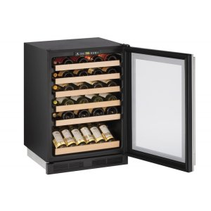 """U-Line1000 Series 24"""" Wine Captain(r) Model With Stainless Frame Finish and Field Reversible Door Swing (115 Volts / 60 Hz)"""