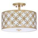 Cecily Leaf Trellis 3 Light 15-inch Dia Gold Flush Mount - Gold Product Image