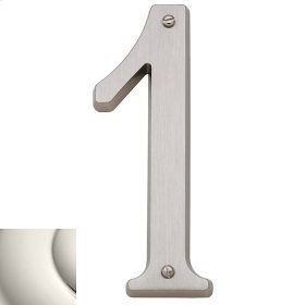 Polished Nickel House Number - 1