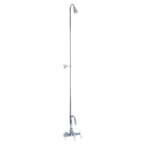 Tub/Shower Converto Unit - Diverter Faucet, Gooseneck Spout for Acrylic Tub - Polished Chrome