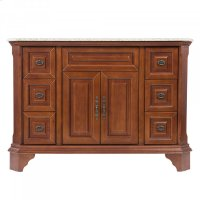 Single 48 in. W Brown Birch with MDF Vanity Product Image