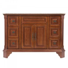 Single 48 in. W Brown Birch with MDF Vanity