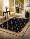 Ashton House As03 Blk Rectangle Rug 2' X 2'9''