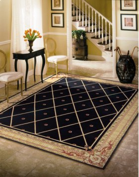 Ashton House As03 Blk Rectangle Rug 27'' X 18''