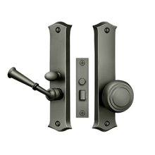 Storm Door Latch, Classic, Mortise Lock - Antique Nickel
