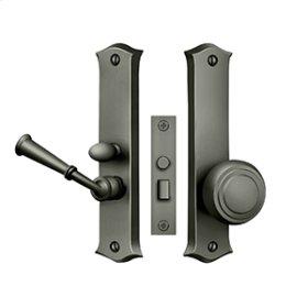 Storm Door Latch, Classic, Mortise Lock - Antique Nickel