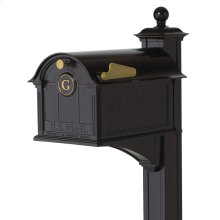 Balmoral Mailbox Monogram & Post Package - Black