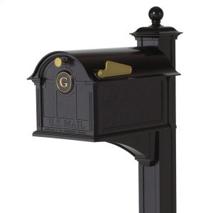 Balmoral Mailbox Monogram & Post Package - Black Product Image