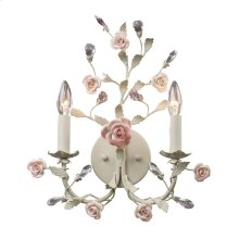Heritage 2-Lt Sconce in A Cream Finish