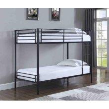 Boltzero Contemporary Black Twin Bunk Bed