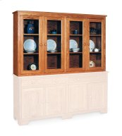 Shaker Closed Hutch Top, Extra Large, Antique Glass