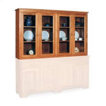 "Shaker Closed Hutch Top, 73 1/2"", Antique Glass"