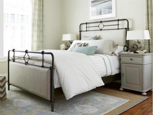 Upholstered Metal Bed (King)