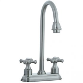 "Asbury - 4"" Centerset Bar Faucet - Brushed Nickel"