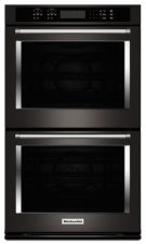 "30"" Double Wall Oven with Even-Heat True Convection - Black Stainless Product Image"