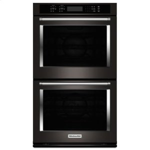 """KITCHENAIDBLACK STAINLESS30"""" Double Wall Oven with Even-Heat True Convection - Black Stainless"""