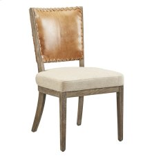 Lina Leather and Linen Chair