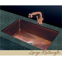 Large Rectangle Kitchen Sink - Plain Pattern - Old Copper