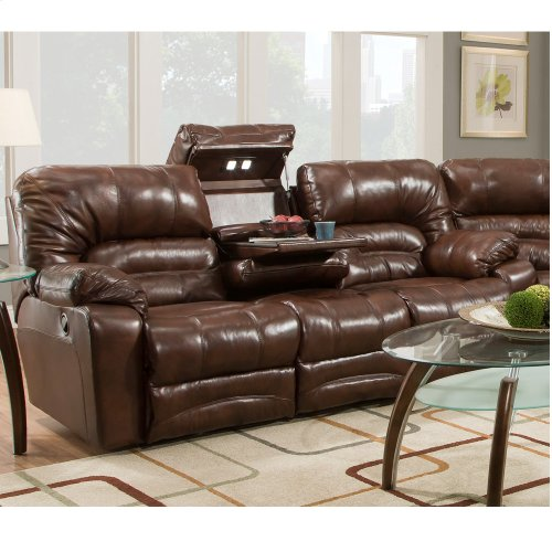 Reclining Sofa w/Drop Down Table & Lights