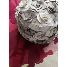 """Felted Floral POUF-28 18"""" x 18"""" x 14"""""""