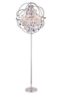 1130 Geneva Collection Floor Lamp Polished Nickel Finish
