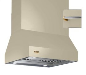 "42"" Wide Island Hood, Brass Accessory Rail on front, back and both sides"