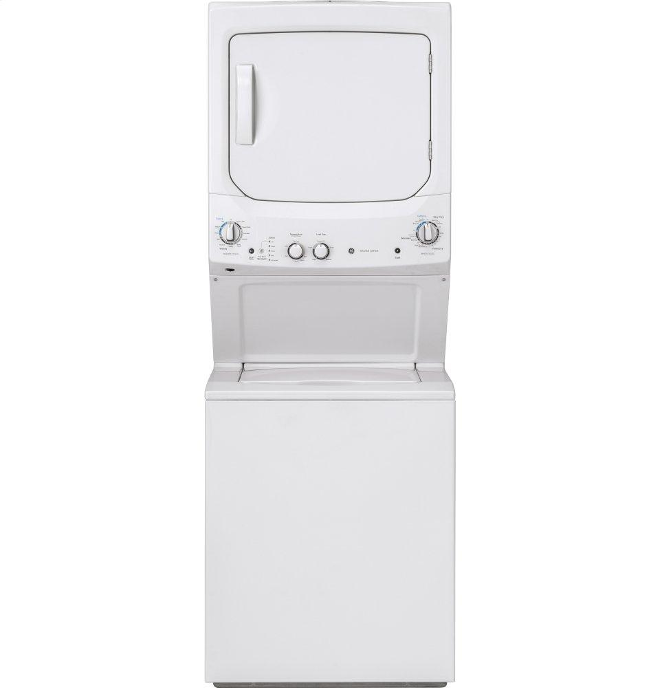 GE Unitized Spacemaker(R) 3.8 DOE cu. ft. Capacity Washer with Stainless Steel Basket and 5.9 cu. ft. Capacity Long Vent Electric Dryer