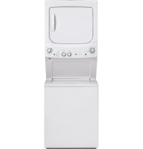GE Unitized Spacemaker® 3.8 DOE cu. ft. Stainless Steel Washer and 5.9 cu. ft. Gas Dryer