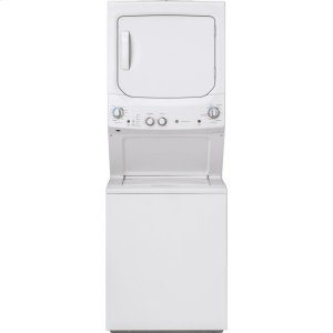 GEGE Unitized Spacemaker(R) 3.8 DOE cu. ft. Capacity Washer with Stainless Steel Basket and 5.9 cu. ft. Capacity Gas Dryer