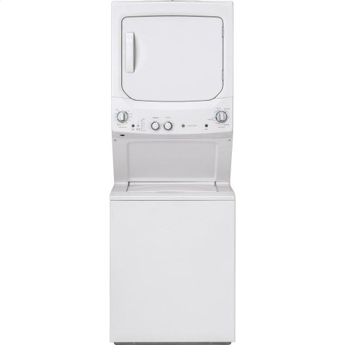 GE Unitized Spacemaker® 3.8 cu. ft. Capacity Washer with Stainless Steel Basket and 5.9 cu. ft. Capacity Gas Dryer