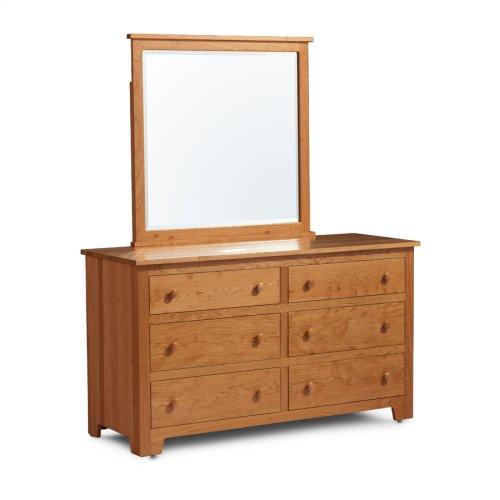 Shaker 6-Drawer Dresser, Medium