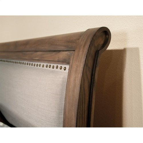 Belmeade - California King Sleigh Bed Rails - Old World Oak Finish